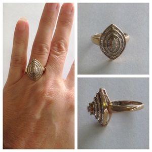1 CTTW Diamond 10K Ring
